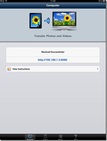 Передача файлов с Ipad на компьютер и с компьютера на Ipad по Wi-Fi (Simple Photo & Video Transfer Lite)