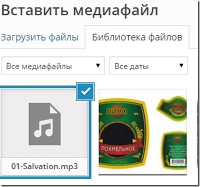 Добавляем аудио музыку в WordPress