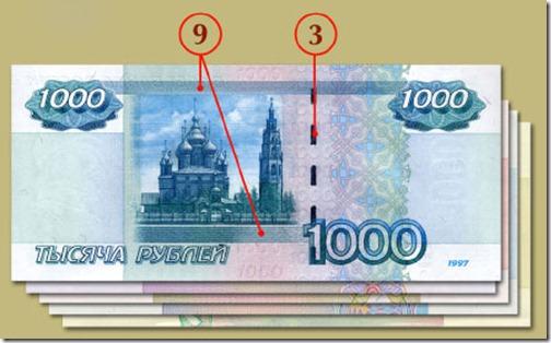 Признаки подлинности банкнот российского рубля