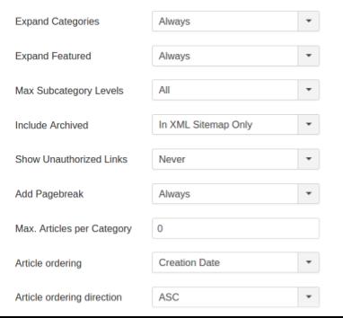 Как создать карту сайта в Joomla